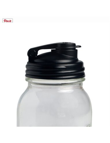 reCAP | Mason Jar Flip Cap Black - Regular