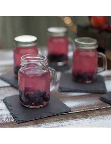 TableCraft | Mini Mason Jar Plain Drinkbeker4,5 oz / 130 ml (4 stuks)