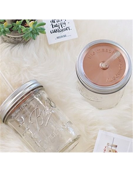 The Mason Bar Company | Mason Jar Gold Deksel - div. maten
