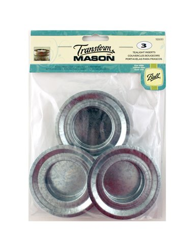 Transform Mason® | Tea Light Lid Insert Regular Mouth - 3 stuks