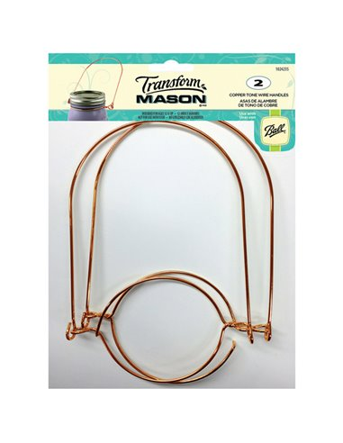 Transform Mason® | Wire Handles Mason Jar Copper Tone Regular - 2 stuks