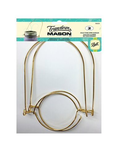 Transform Mason® | Wire Handles Mason Jar Gold Tone Regular - 2 stuks