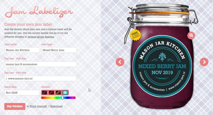 Mason Jar Etiketten ontwerpen
