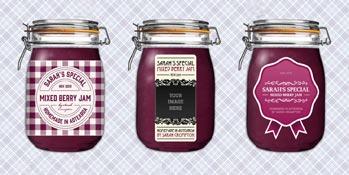 Gratis etiketten voor Mason Jar of Weckpot